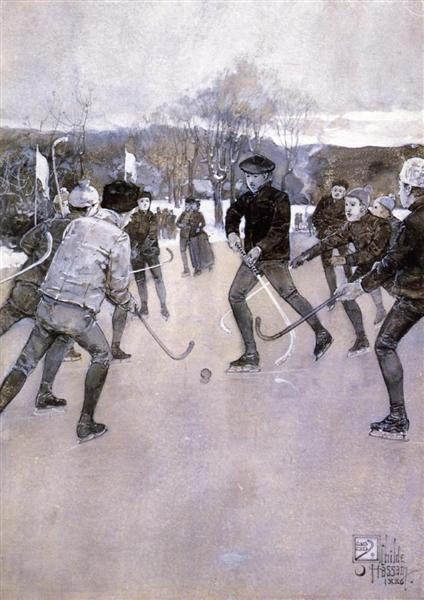 Skating - Childe Hassam