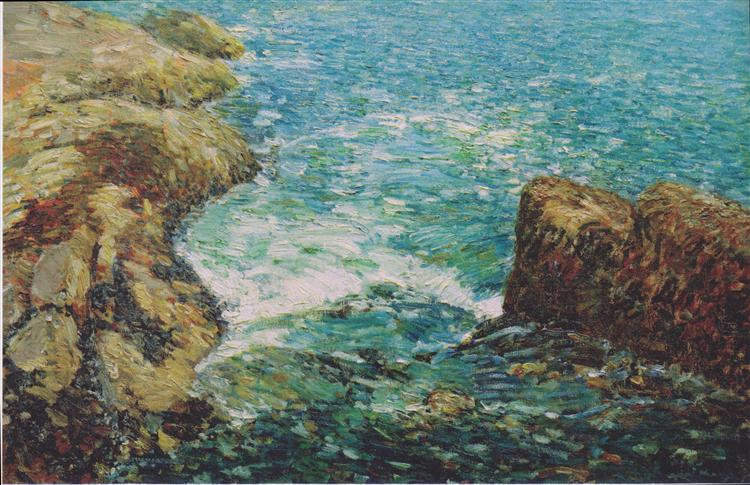 Surf and Rocks, 1906 - Childe Hassam