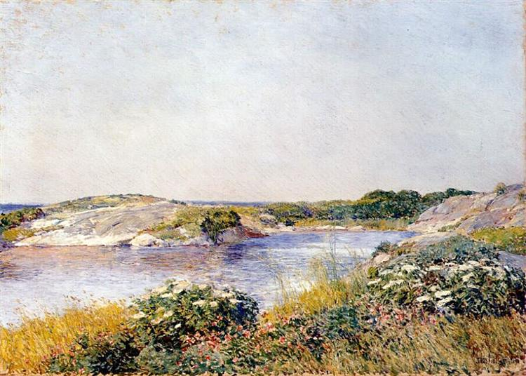 The Little Pond, Appledore, 1890 - Childe Hassam