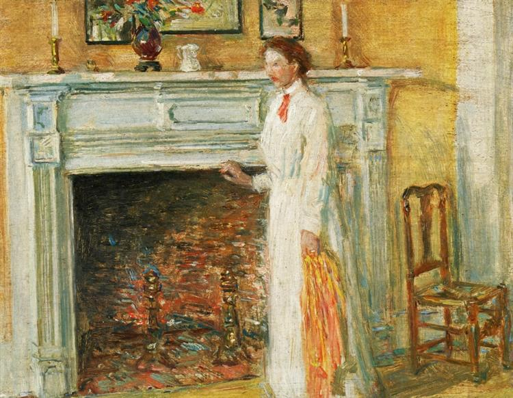 The Mantle Piece, 1912 - Childe Hassam