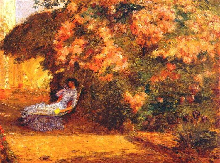 Under the Lilacs, c.1887 - c.1889 - Childe Hassam
