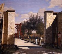 The North Gate of the Citadel - Christen Købke