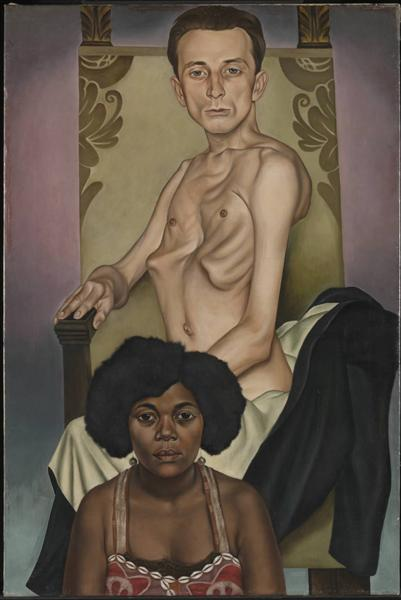 Agosta, the Pigeon-Chested Man, and Rasha, the Black Dove, 1929 - Christian Schad