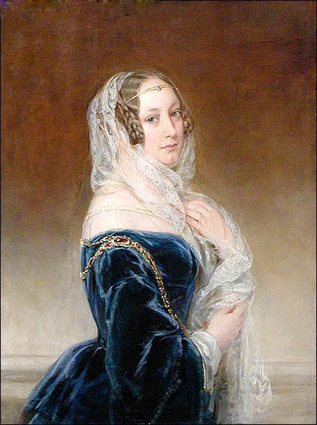 Duchess Maria Feodorovna Baryatinsky, née. Keller, 1845