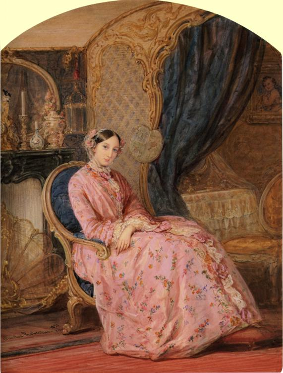 Portrait of Grand Duchess Maria Nikolaevna, 1851
