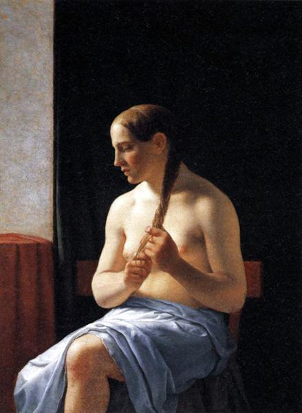 Sentado Modelo Desnuda - Eckersberg Christoffer Wilhelm