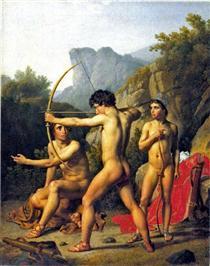 Three Spartan Boys - Christoffer Wilhelm Eckersberg
