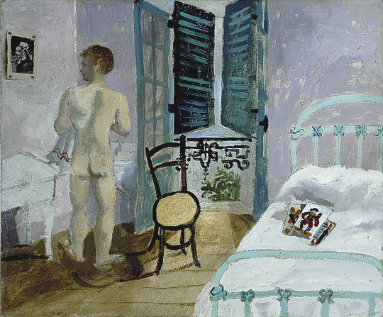 Nude in a bedroom, portrait of fr.Francis Rose, 1930 - Christopher Wood