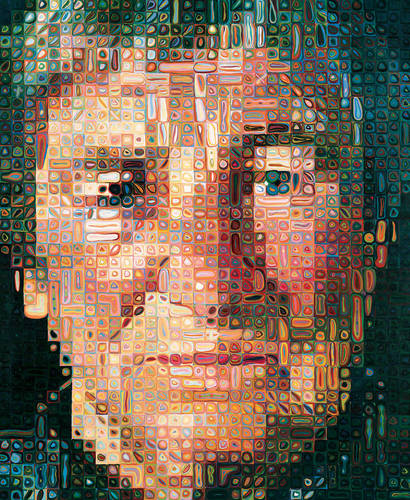 Agnes, 1998 - Chuck Close - WikiArt.org