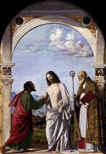 Doubting Thomas with St. Magnus - Cima da Conegliano