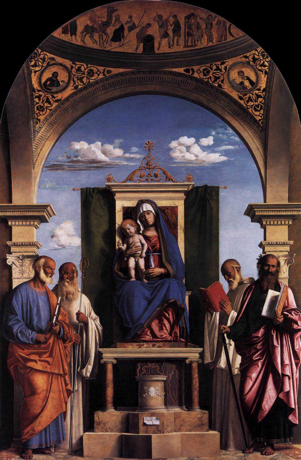 Madonna and Child Enthroned with Saints, 1496