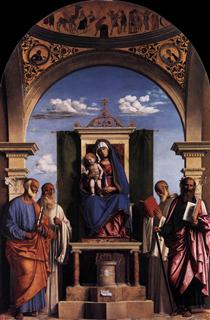Madonna and Child Enthroned with Saints - Cima da Conegliano