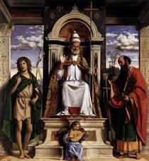 St. Peter Enthroned with Saints - Cima da Conegliano