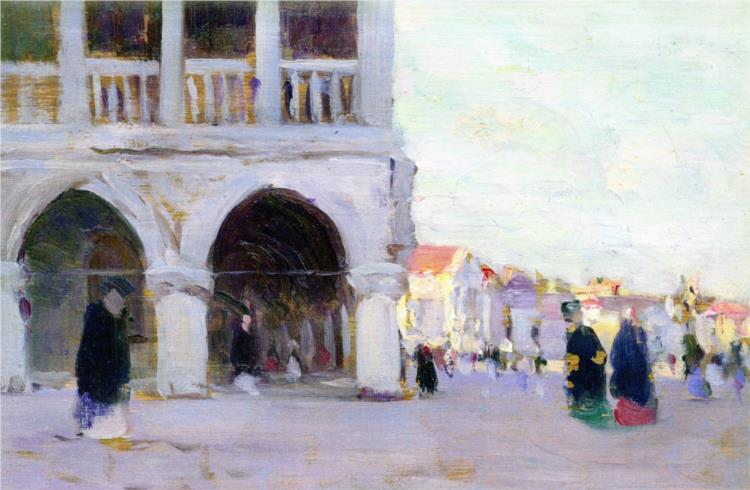 Corner of the Doge's Palace, 1905 - Clarence Gagnon