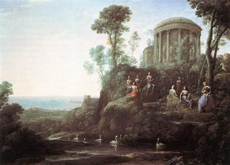 Apollo and the Muses on Mount Helicon, 1680 - Claude Lorrain