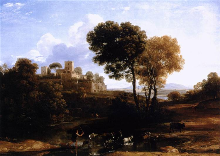 Landscape with Shepherds, c.1646 - Claude Lorrain