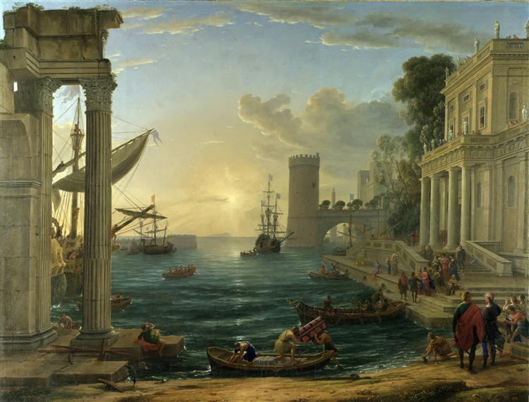The Embarkation of the Queen of Sheba, 1648 - Claude Lorrain