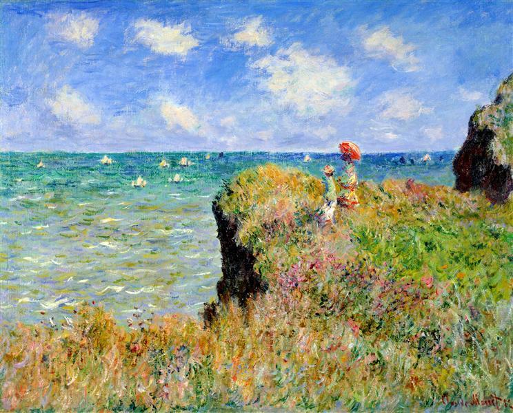 Clifftop Walk at Pourville, 1882 - Claude Monet