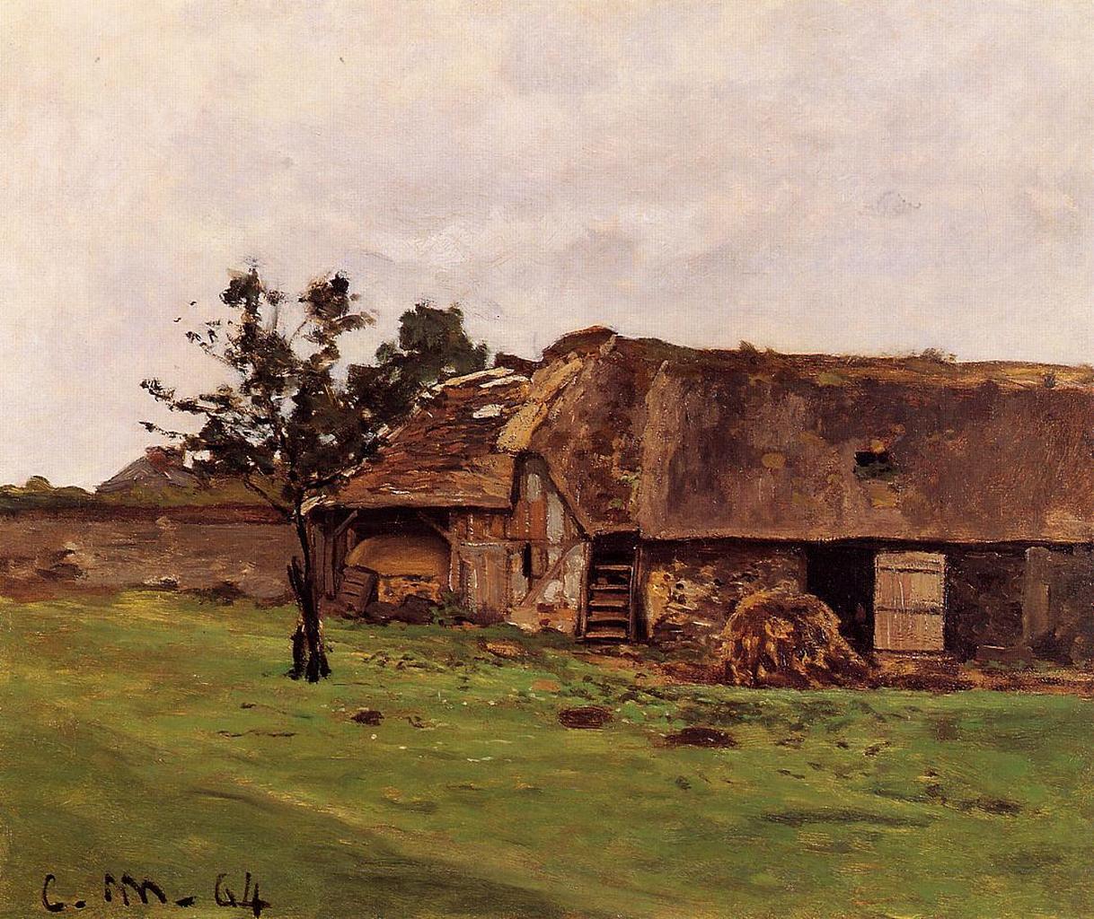 Farm near Honfleur, 1864