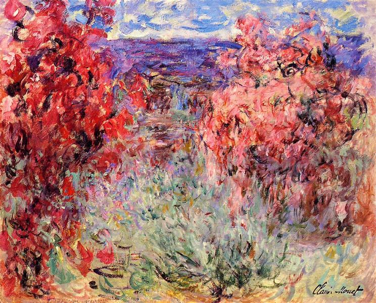 The House Among the Roses, 1920 - 1925 - Claude Monet