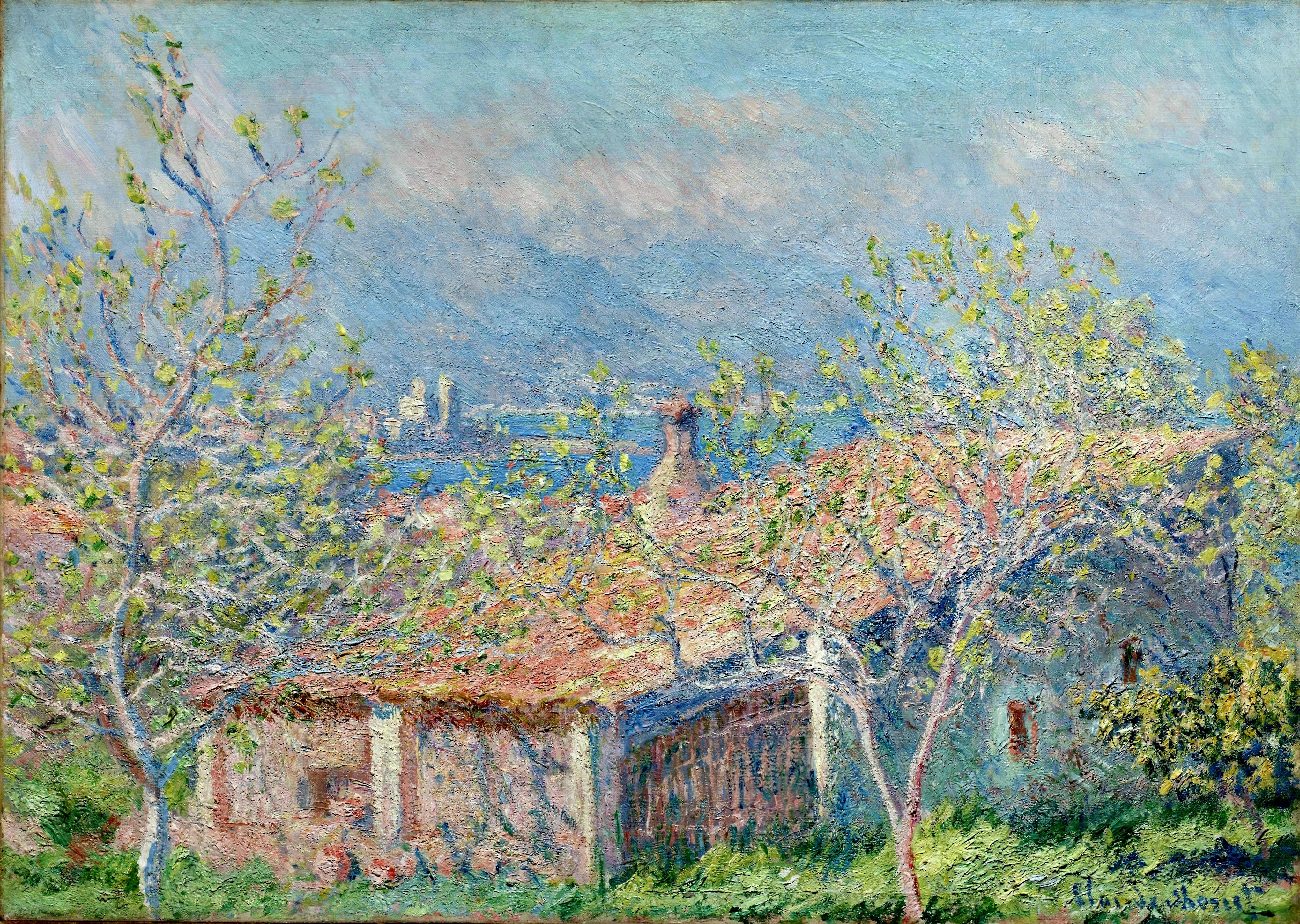 Gardener 39 S House At Antibes 1888 Claude Monet