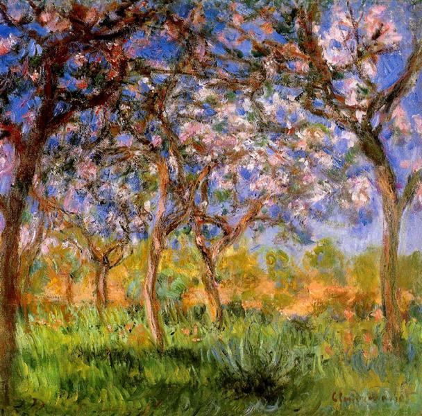 Giverny in Springtime, 1899 - 1900 - Claude Monet
