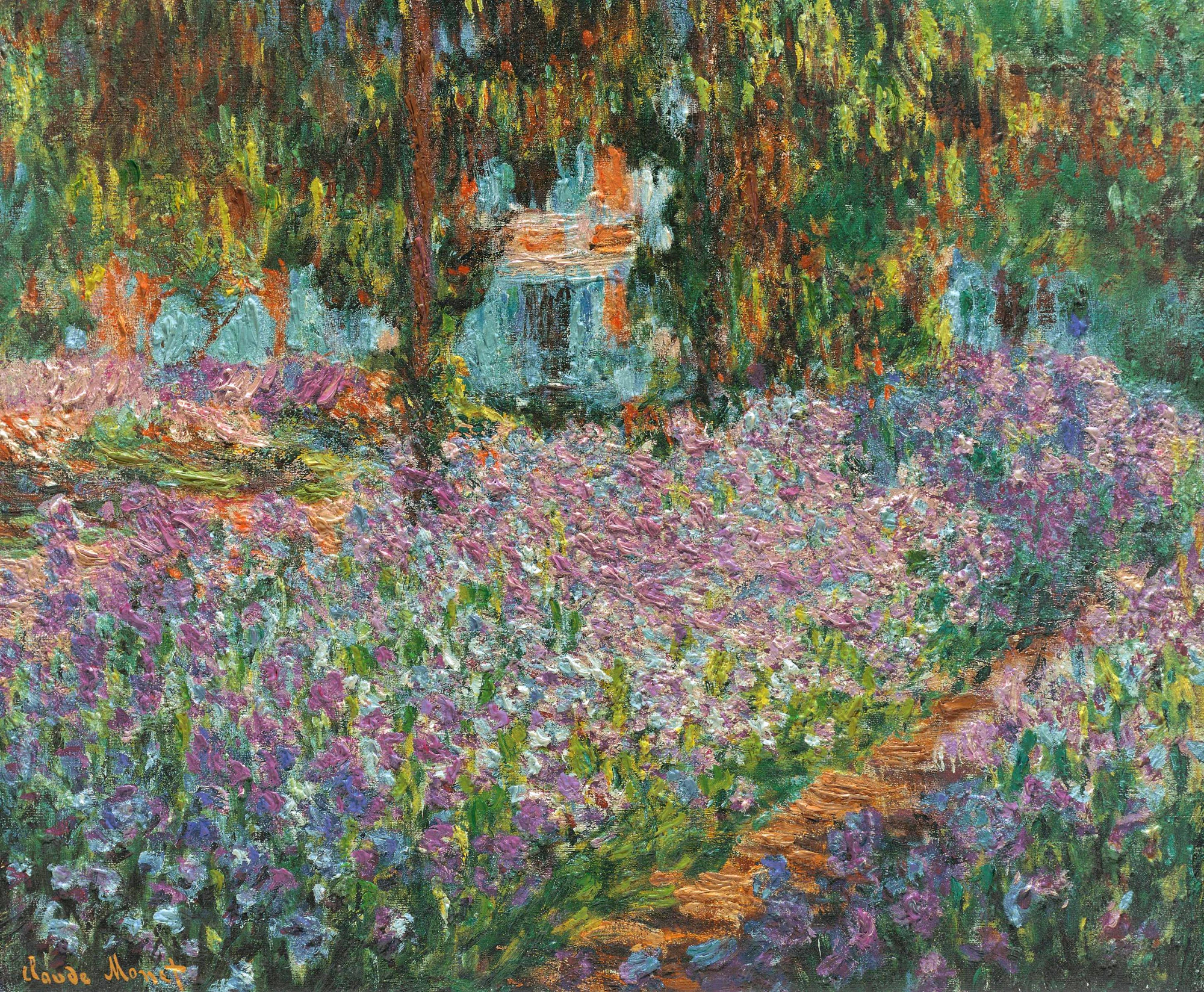 Irises in monet 39 s garden 1900 claude monet for Claude monet artwork