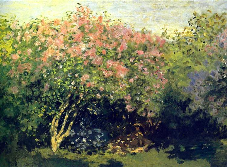 Lilacs in the Sun, 1872 - Claude Monet