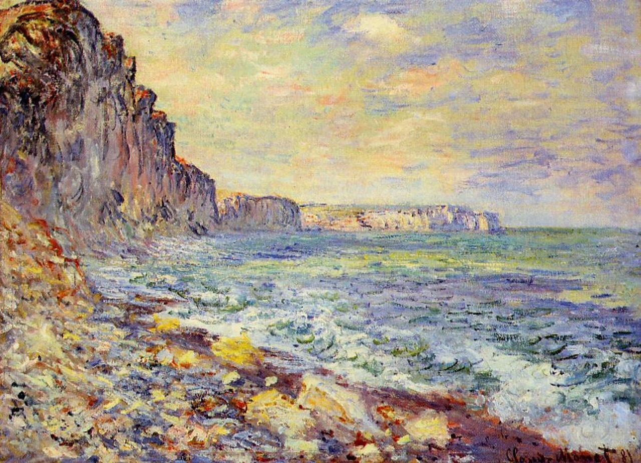 morning by the sea 1881 claude monet