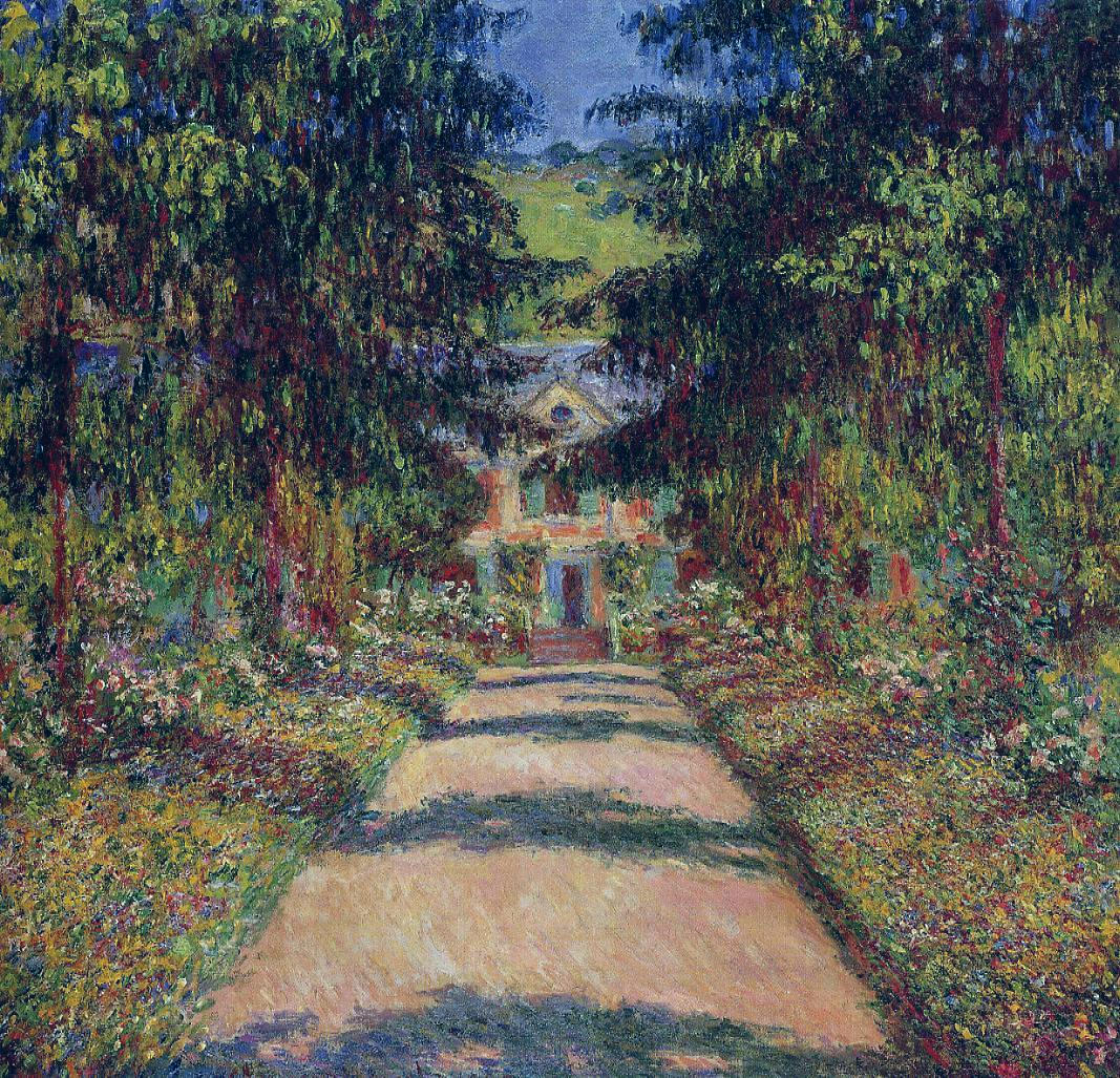 Pathway in Monets Garden at Giverny 1900 Claude Monet
