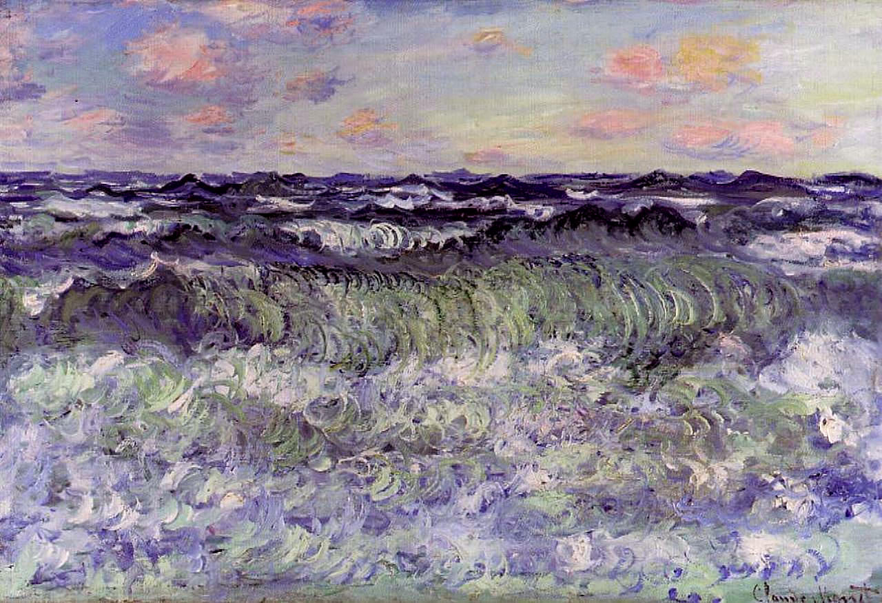 Impressionism Monet Sunrise Sea Study, 1881 - Clau...