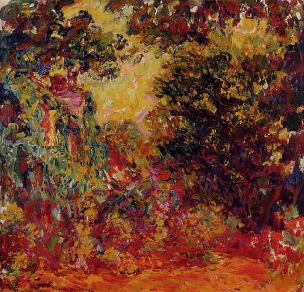 The Artist's House from the Rose Garden, 1922 - 1924 - Claude Monet