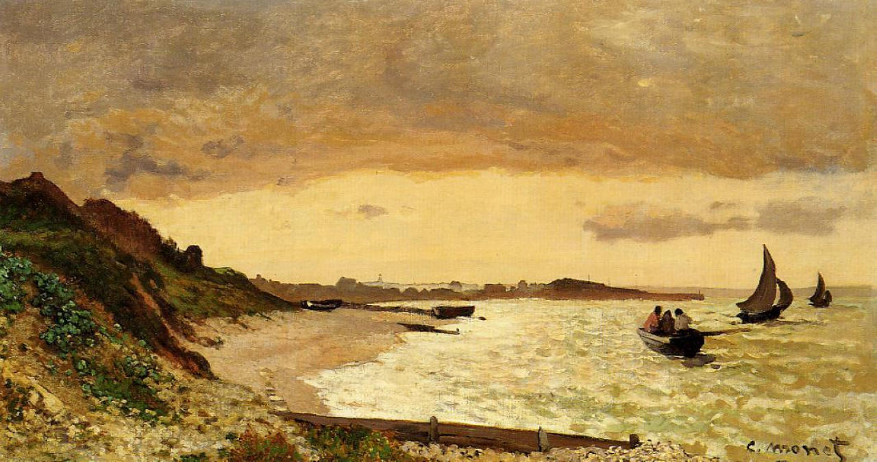 The Coast at Sainte-Adresse, 1864