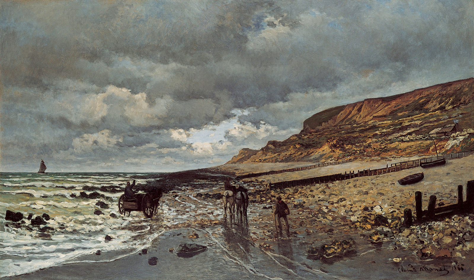 The Headland of the Heve at Low Tide, 1865