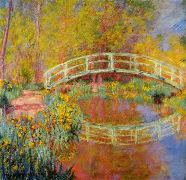 The Japanese Bridge (The Bridge in Monet's Garden), 1895 - 1896 - Claude Monet