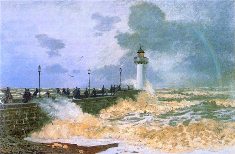 The Jetty at Le Havre, 1868 - Claude Monet