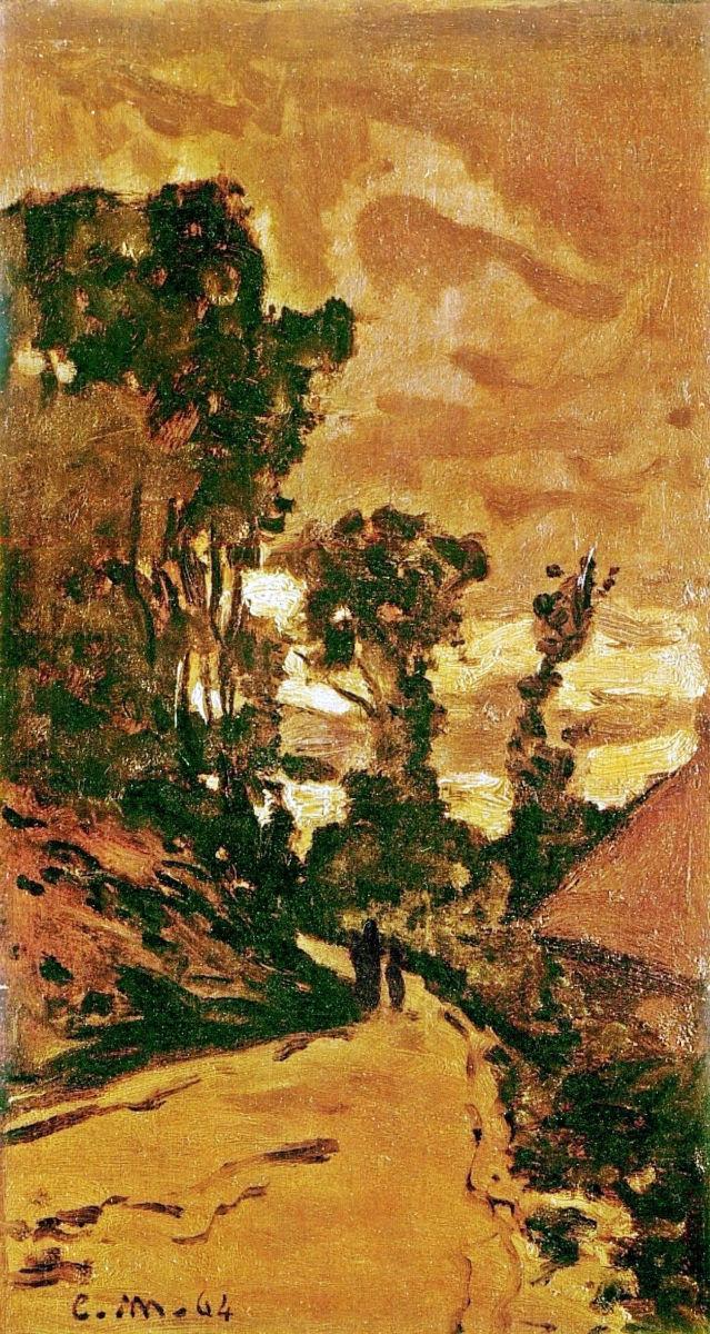 The Road to the Farm of Saint-Simeon, 1864