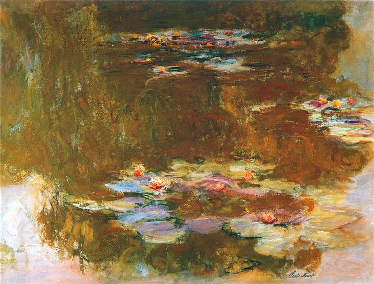 Water Lily Pond, 1917 - Claude Monet