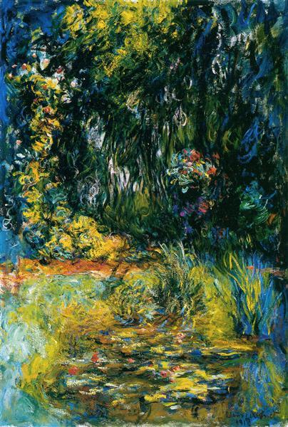 Impressionism Monet Sunrise Water Lily Pond, 1918 ...