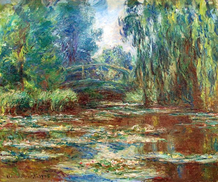 Water Lily Pond And Bridge Claude Monet