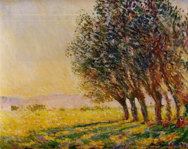 Willows at Sunset, 1889 - Claude Monet