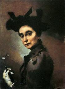 Mulher com Luneta - Columbano Bordalo Pinheiro