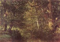 Watercourse in the woods - Констан Труайон