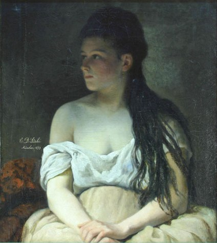 Portrait of a Girl, 1873 - Constantin Stahi