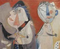 Couple et pigeon - Corneille