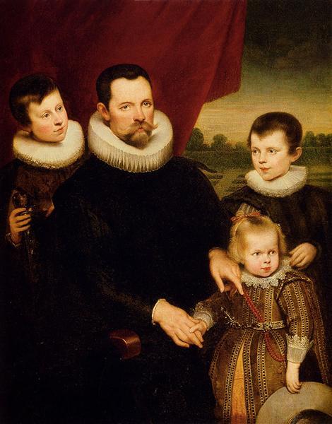 Portrait of a Nobleman and Three Children - Cornelis de Vos