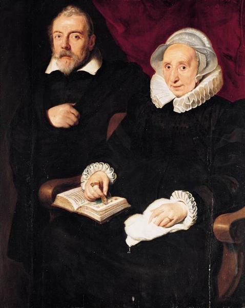 Portrait of Elisabeth Mertens and her Late Husband - Cornelis de Vos