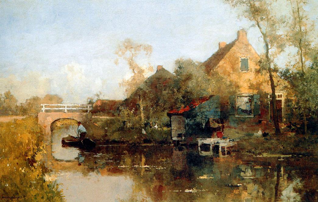 Cornelis Vreedenburgh - Page 2 Farm-next-to-canal