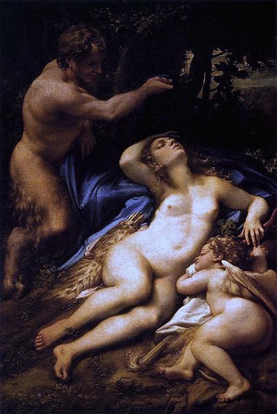 Venus, Satyr and Cupid, 1528 - Correggio