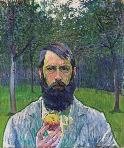 Self Portrait with Apple, 1903 - Cuno Amiet